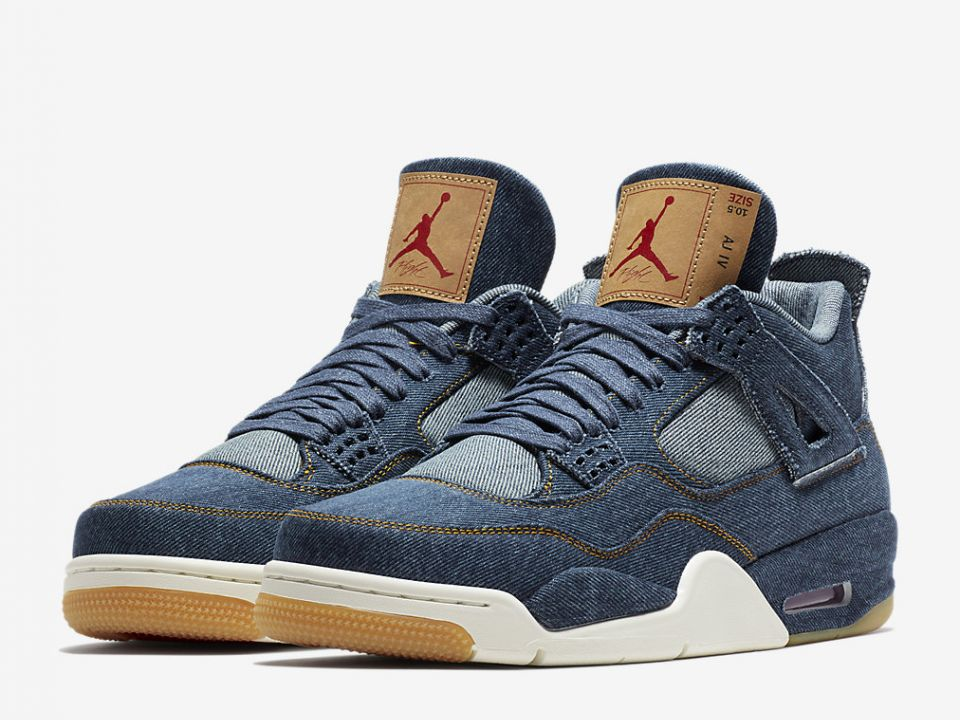 ecf0761328d ... spain a limited release of the collaboration silhouette air jordan 4  retro x levis denim will